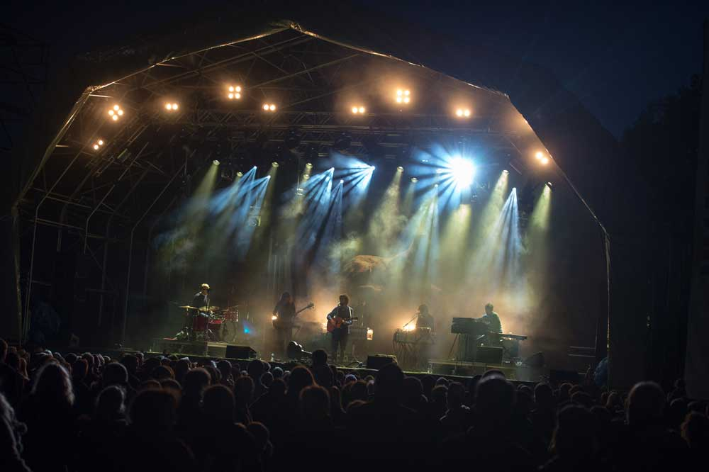 The main stage at the Ramsbottom Festival