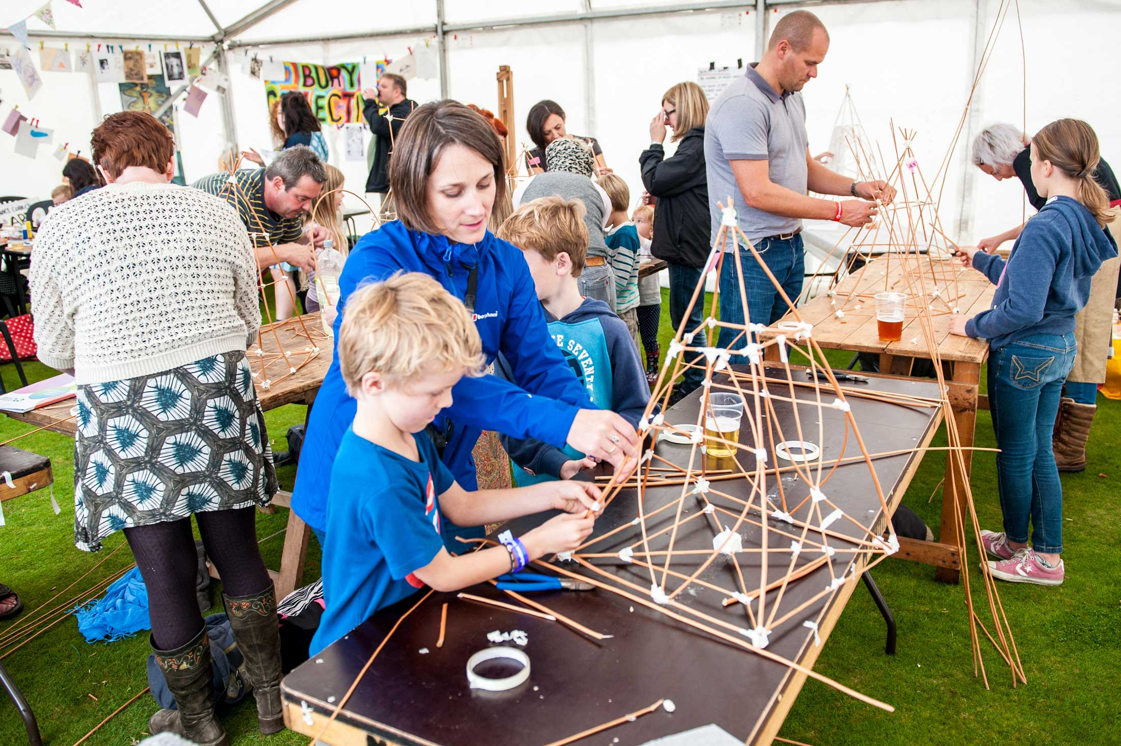 Family craft projects at the Ramsbottom Festival